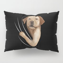 Labrador Animal Coming From Inside Pillow Sham