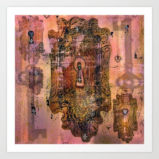 Hearts and Locks Art Print