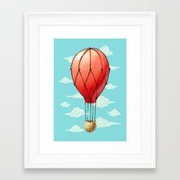 hot air balloon Framed Art Prints featuring Hot Air Balloon by Freeminds