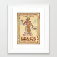 egypt Framed Art Prints featuring EGYPT by Kathead Tarot/David Rivera