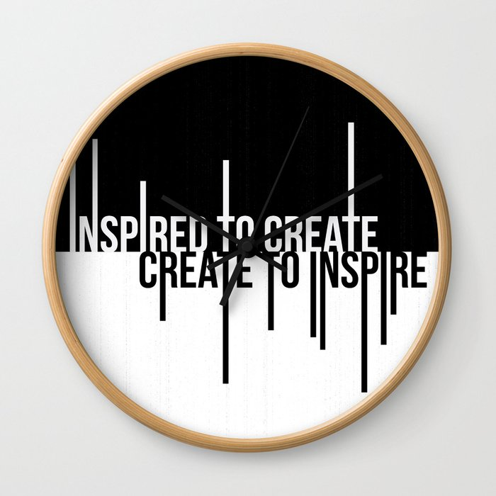 Create to Inspire Wall Clock