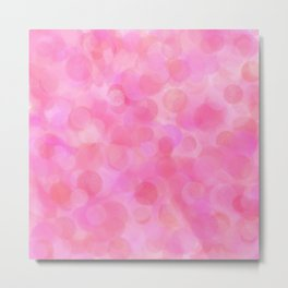 Pink Blush Dots Pattern Metal Print
