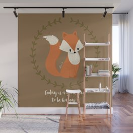 Renard roux // Red fox Wall Mural