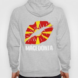 MKD Macedonia Kiss Lips Tee Shirt Hoody