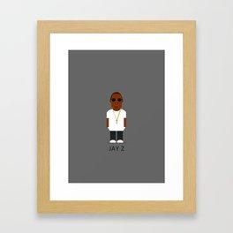 Jay Z Hip Hop Print Framed Art Print