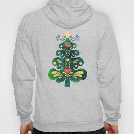 Traditional Scandinavian Folk Art Tree Hoody