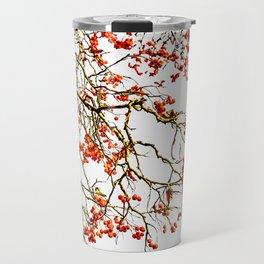 Red rowan fruits or ash berries Travel Mug