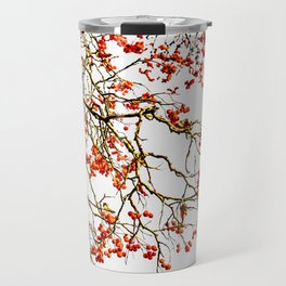 Red rowan fruits or ash berries Travel Mug