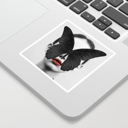 BLACK BUTTERFLY Sticker