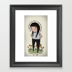 What I Wore Today Framed Art Print