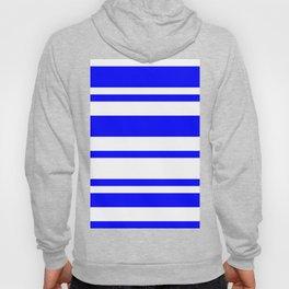 Mixed Horizontal Stripes - White and Blue Hoody
