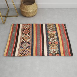 Salé  Antique Morocco North African Flatweave Rug Print Rug