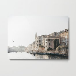 Venice Canal Bright Sky | Italy Travel Photography of Venice, European Canals, Saige Ashton Prints  Metal Print