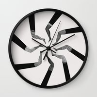 socks Wall Clocks featuring Socks by •ntpl•