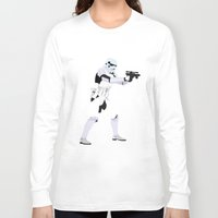 motivational Long Sleeve T-shirts featuring Lab No.4 -Stormtrooper Movie Motivational Quotes Poster by Lab No. 4