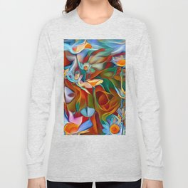 Psychedelic Daises Long Sleeve T-shirt