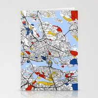 stockholm Stationery Cards featuring Stockholm by Mondrian Maps