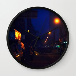 Blue Nights Wall Clock
