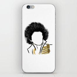 Hendrix Rock Icon Silhouette iPhone Skin