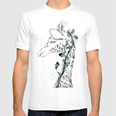 Poetic Giraffe Mens Fitted Tee White SMALL
