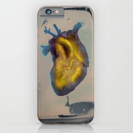 Heart of Gold encased in ice iPhone Case