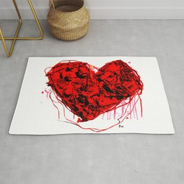 My Heart (all bloody, with like blood and stuff) Rug