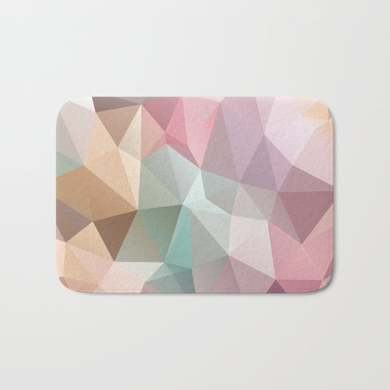 Abstract triangles polygonal pattern Bath Mat