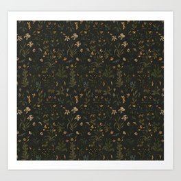 Old World Florals Art Print
