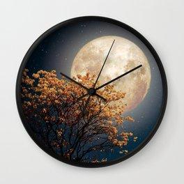 Under Full Moon Wall Clock