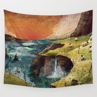 ireland Wall Tapestries featuring Ireland by Taylor Rose