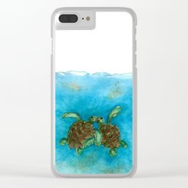 Baby sea buddies Clear iPhone Case