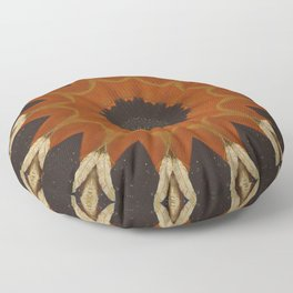 Shaman's Drum // Native American Tribal Spirit Feather Shield Soul Earth Shamanic Shamanism Vision Floor Pillow