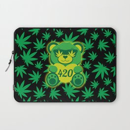 420 Teddy Bear Laptop Sleeve