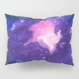 Sanctuary, Nebula Galaxy Stars Watercolor Pillow Sham