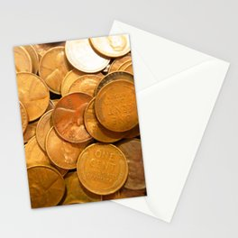 Watercolor Coins, Lincoln Wheat Pennies, 1946 02 Stationery Cards