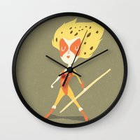 thundercats Wall Clocks featuring Cheetara  by Rod Perich