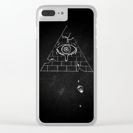 Crumbling Society Clear iPhone Case