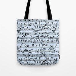 Hand Written Sheet Music // Light Blue Tote Bag