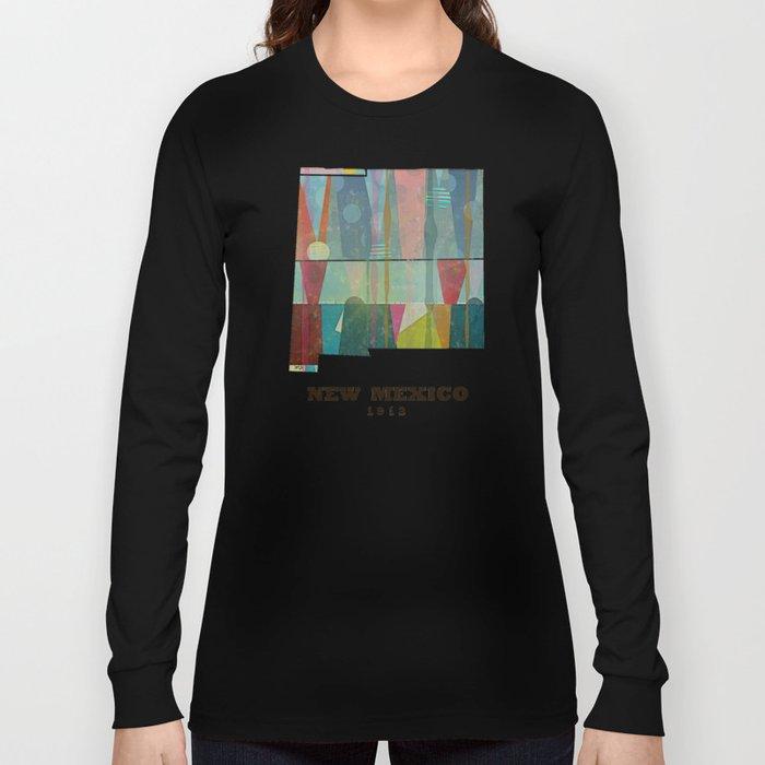 new mexico map modern Long Sleeve T-shirt