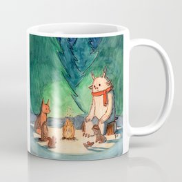 Yeti and Forest Friends in Winter Coffee Mug
