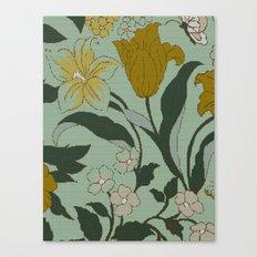 vintage floral knit Canvas Print