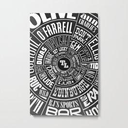 TenderLoin San Francisco Type wheel Metal Print