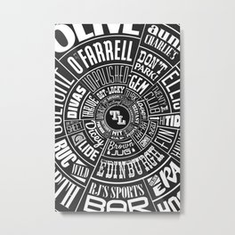 TenderLoin San Francisco Type wheel Metal Print