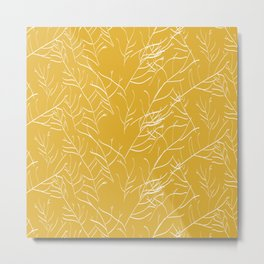 Branches in yellow Metal Print