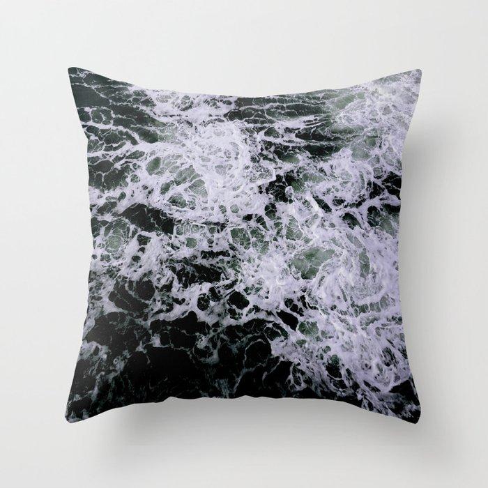 Dark Ocean II Throw Pillow