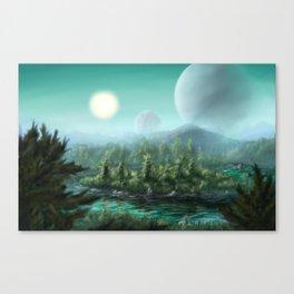 Alien Landscape Canvas Print