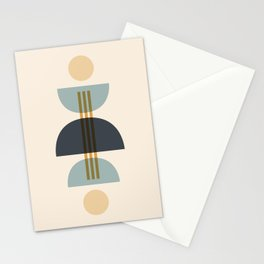 Sapphire Abstract Half Moon 1 Stationery Cards