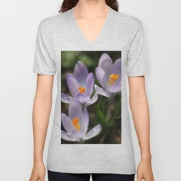 Crocus flowers Unisex V-Neck