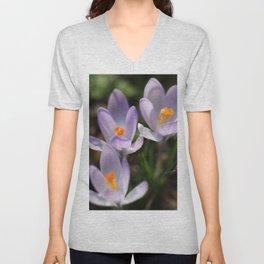 Crocus flowers Unisex V-Neck