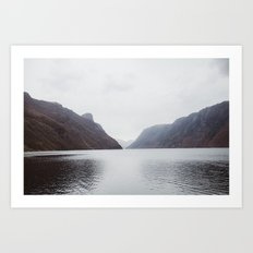Frafjord Norway in winter Art Print